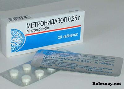 Синтетический антибиотик Метронидазол для лечения Лямблий