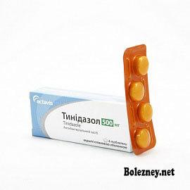 Особенности при лечении Тинидазолом
