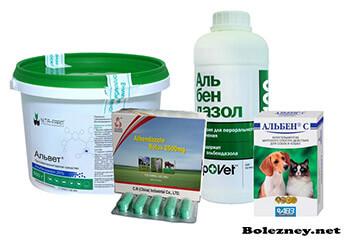 Дозировка Альбендазола для животных