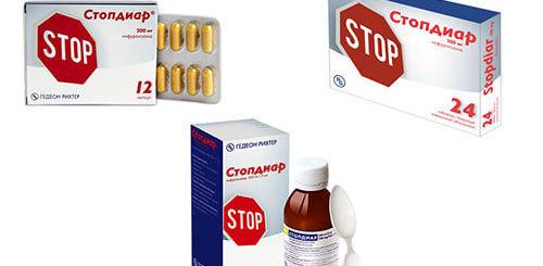 Стопдиар от диареи в виде суспензии и таблетках. Подробнее о препарате