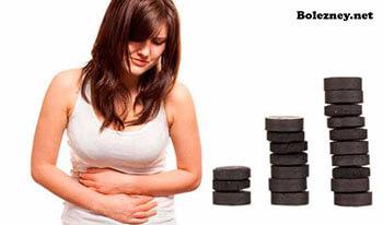 Активированный уголь при боли в животе